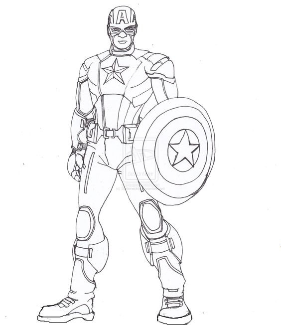 Line Drawing Usa : Captain america lines by constantm tion viantart on