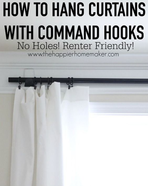 Hang Curtains Without An Holes This Is A Perfect Renter