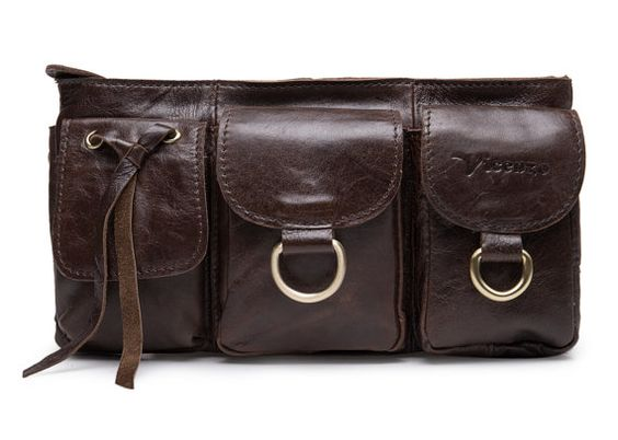 The Adonis Leather Fanny Pack Full-Grain Edition by eUrbia on Etsy
