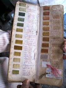 AtelierOM: journals of color by a natural elements dyer, hands full of nature.