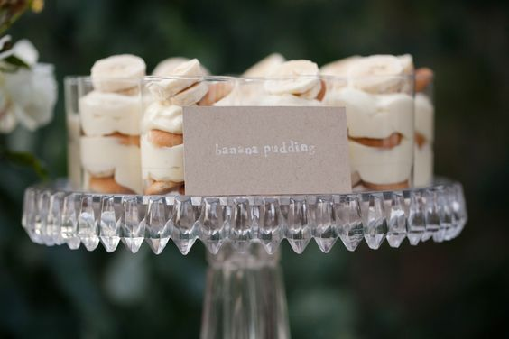 cute way to serve banana pudding
