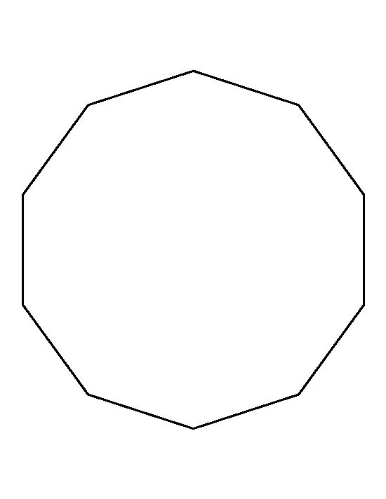 Decagon pattern. Use the printable outline for crafts, creating ...