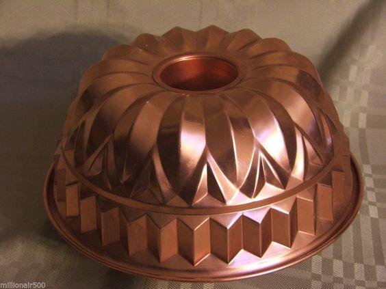 Vintage Bundt Pan Copper Coated Aluminum Cake Jello Mold Holiday Baking . The wonderful world of baking