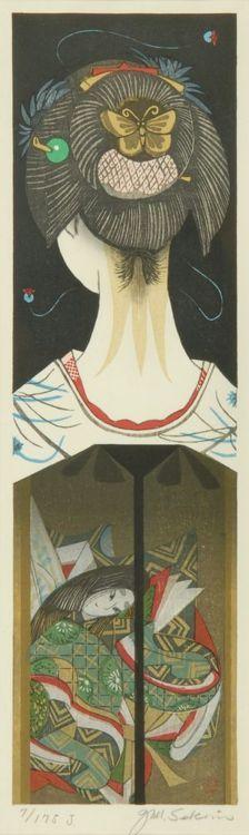 Jun'ichiro SEKINO Dibujo de una joven de espalda, Japan