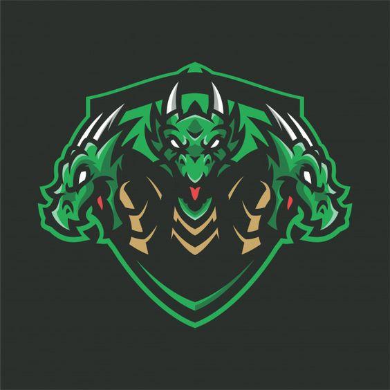 Dragon hydra mascot head sport logo Prem... | Premium Vector #Freepik #vector #logo #design #sport #character