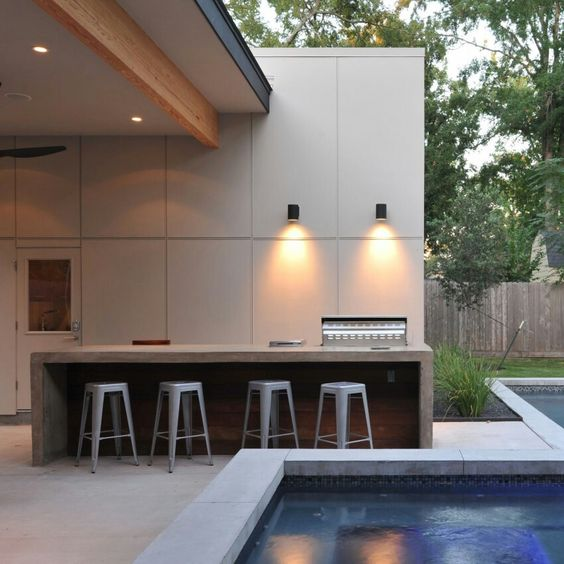 Functional and beautiful outdoor lighting. So good to be able to see what's on…
