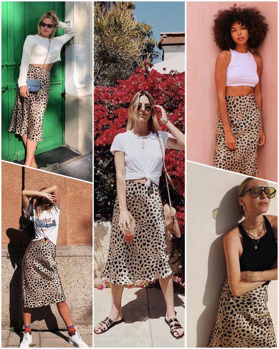 Luz e Listras - Animal Print - A Estampa Trendy Verão 2019    Como usar animal print verão 2019, saia midi, saia the naomi, look, saia de onça.
