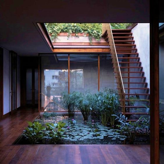 Outdoor Location Courtyard House on Pali Hill.Architects: Studio Mumbai. Location: Bandra, Maharashtra, India