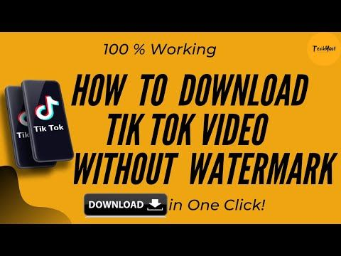 Learn How To Download Tiktok Video Without Watermark Save In One Click Youtube Video Told You So Watermark