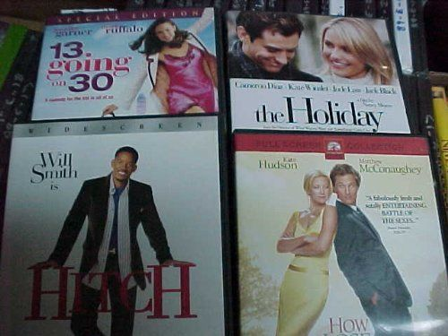 Hitch, 13 Going on 30 , the Holiday, How to Loose a Guy in 10 Days : Romantic Comedy 4 Pack Collection $45.95