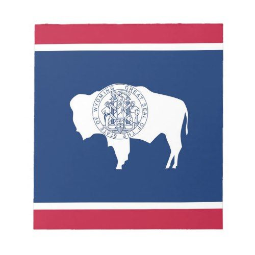 Notepad With Flag Of Wyoming State Zazzle Com Wyoming State Flag Patriotic Flag