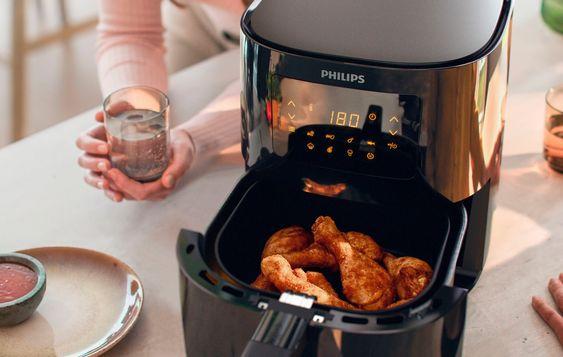 Philips Heissluftfritteuse Essential Hd9252 90 1400 W Fassungsvermogen 0 8 Kg Rezepte Zubereitung Einfache Gerichte