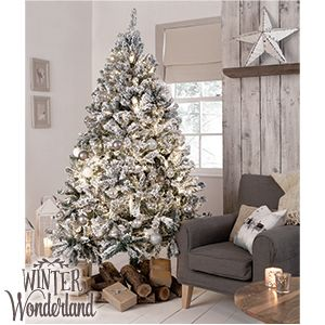 Picture of Winter Wonderland: 7ft Snowy Artificial Christmas Tree