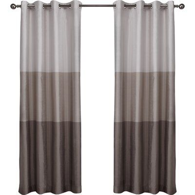 Curtains Ideas 54 curtain panels : Latitude Run Newton Light Filtering Curtain Panels Color: Taupe ...