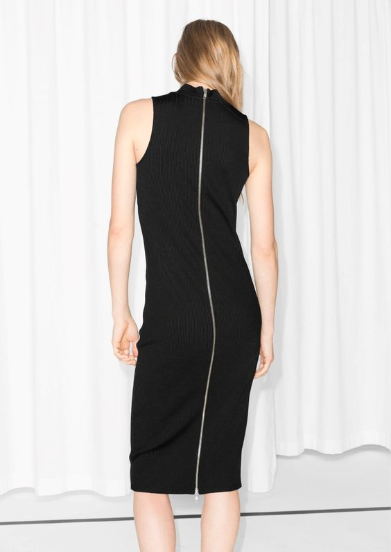 & Other Stories   Ribbed Sleeveless Dress