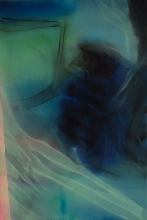 Marvin Aillaud - Silhouettes fragmentées #11 - 2015 - Huile sur toile - 60 x 92 cm #lamicrogalerie #marvinaillaud #peinture #huilesurtoile #artcontemporain