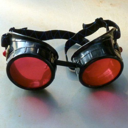 blue Steampunk goggles Victorian glasses novelty costume welding lens goth GGG