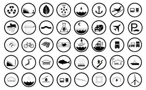 icons to tell and blog on pinterest