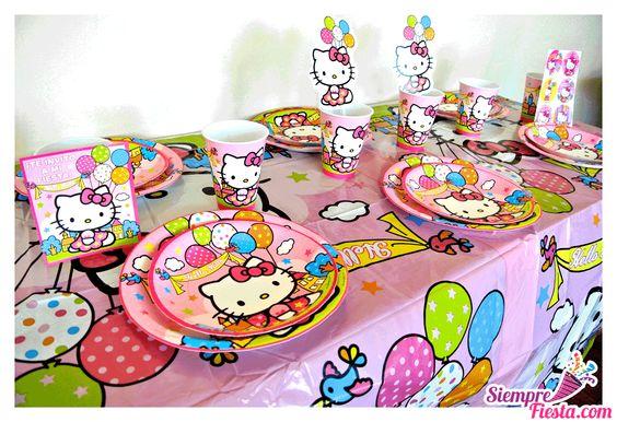 Artículos para fiesta de cumpleaños de Hello Kitty. Encuentra estos y muchos más artículos para tu fiesta en nuestra tienda en línea. Entra aquí: http://www.siemprefiesta.com/fiestas-infantiles/ninas/articulos-hello-kitty.html?utm_source=Pinterest&utm_medium=Pin&utm_campaign=HelloKitty