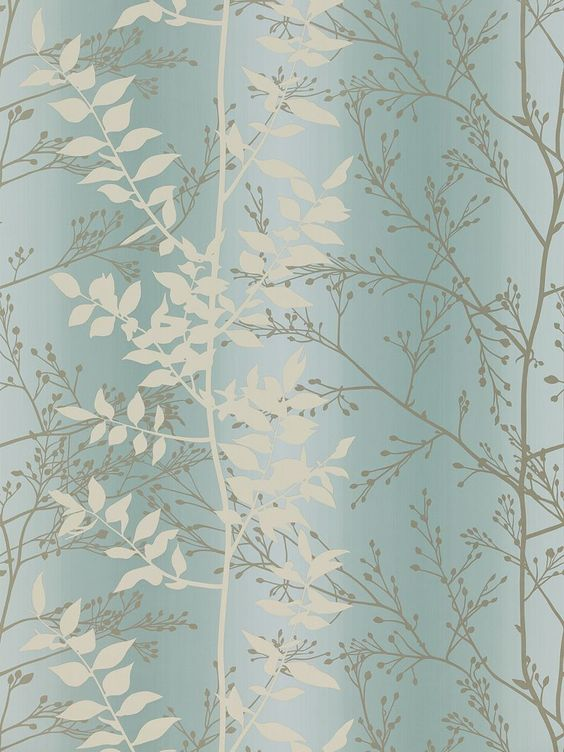 Persephone Wallpaper Duck Egg By Harlequin Home And