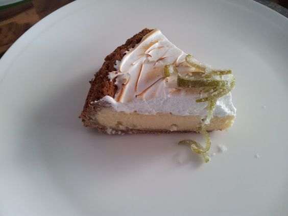 Key lime pie with meringue and candied zest by Love the Taste