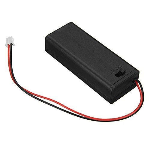 Hitsan 6 52 8cm Microbit Special Battery Box With Switch And Terminal For Aaa 7 Batteries Click Picture For More Detail Battery Holder Batteries Smart Robot