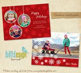 Holiday Photocard Template | Love winter | Photoshop templates for photographers by Birdesign