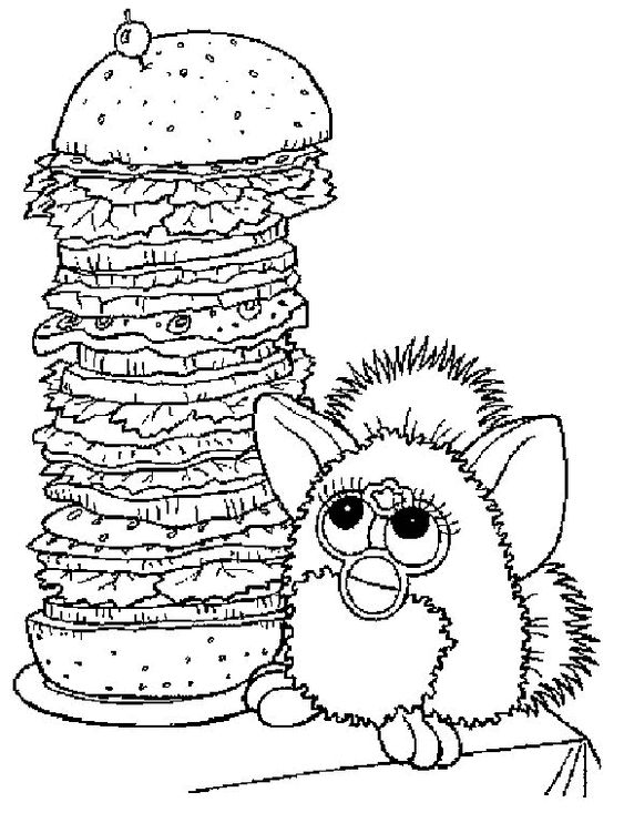 Furbies Saw A Pile Of Spaghetti Coloring Pages For Kids Epw Printable Furbies Coloring Pages For Kids Maleboger Tegninger