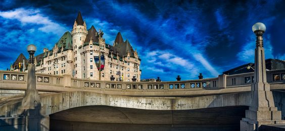 Chateau Laurier from below. - Chateau Laurier from below.