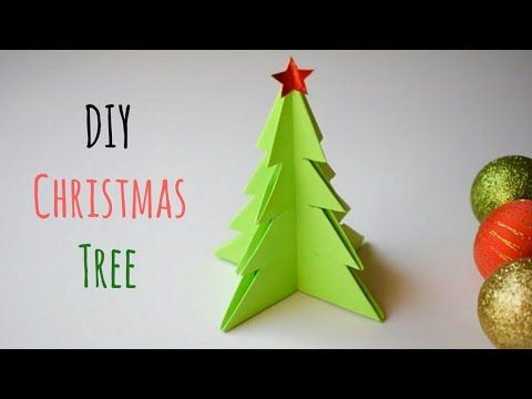 Diy Paper Christmas Tree Easy Paper Christmas Tree Diy Christmas Craft Ideas Diychristmastree Diy Christmas Tree Diy Paper Christmas Tree Christmas Crafts