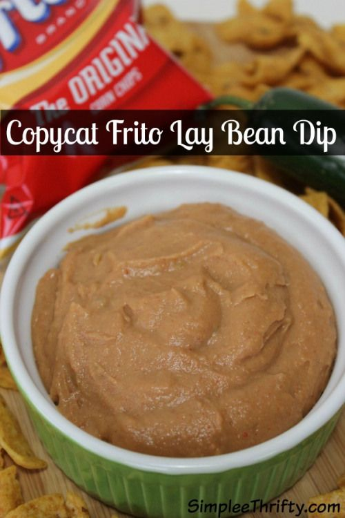 Copycat Frito Lay Bean Dip: Looking for appetizers for your Superbowl Party? We have a delicious Copycat Frito Lay Bean Dip to serve to your guests. They will love it! Who is going to win this year? Whip you this dip. grab some Fritos and makes for an awesome snack!
