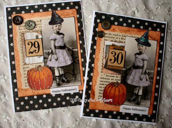 Happy Halloween HANDMADE Collage Greeting by sugarlumpstudios