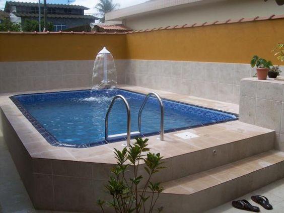 Piscina pequena com hidromassagem pesquisa google - Cemento para piscinas ...