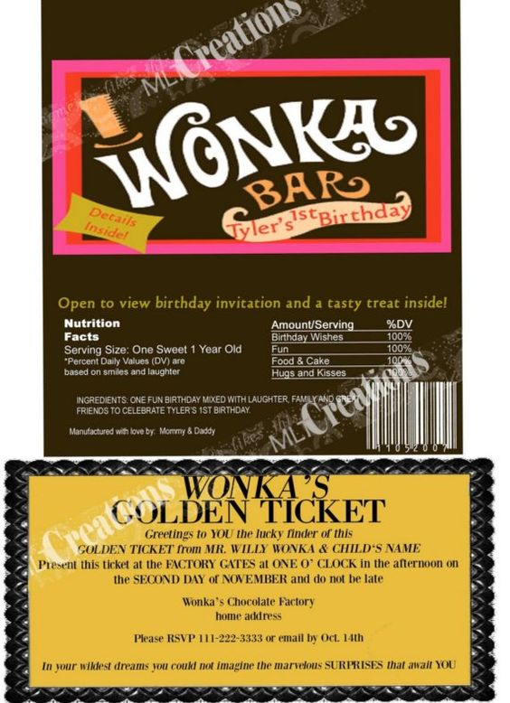 The o'jays, Bar wrappers and Golden ticket on Pinterest