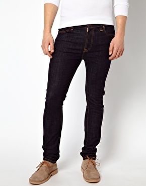 Nudie Jeans High Kai Skinny Fit Twill Navy...love the fit and color on these. I wear them often.