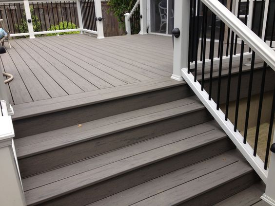 Deck is double picture framed and steps are picture Terrain decking