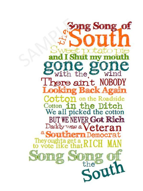 Mississippi Subway Art  Song of the South