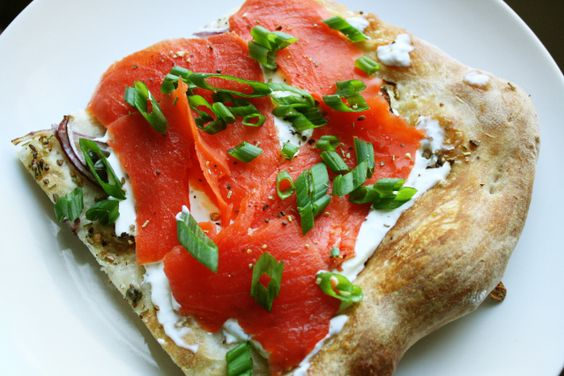 """Lox & """"Everything Bagel"""" Flatbread 