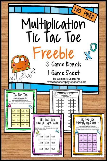 Number Names Worksheets beginning multiplication games : Tic tac toe, Juegos de matemáticas and Tic tac on Pinterest