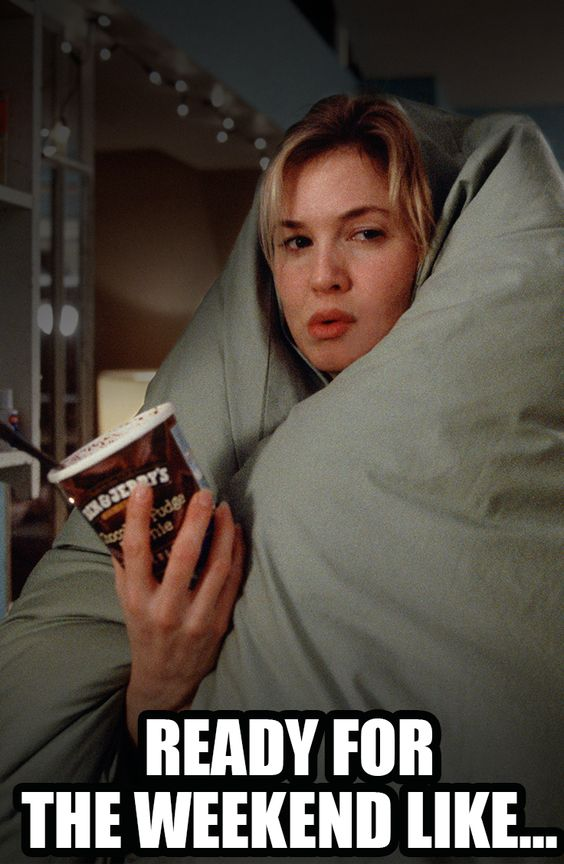 Weekend vibes. | See Renée Zellweger return as Bridget Jones in Bridget Jones's Baby. | In theaters September 16.