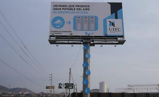 Primeiro outdoor sustentável gera água potável a partir da umidade do ar