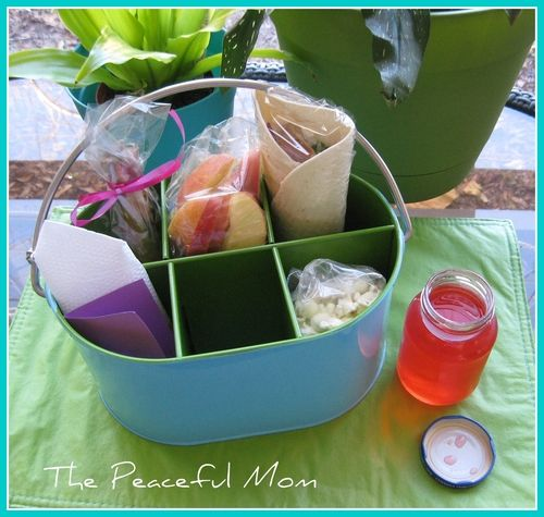 Kid Friendly Picnic lunch--The Peaceful Mom