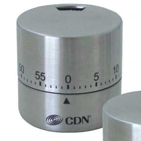 CDN Thermometers and timers  silver round mechanical timer 57 cm *** Want additional info? Click on the image.