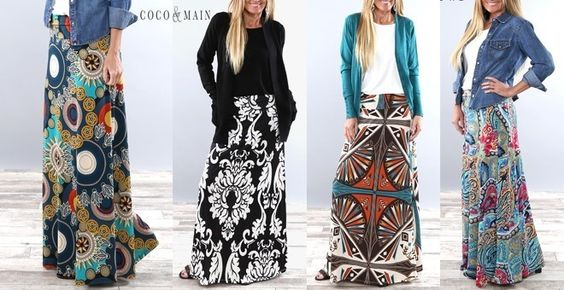 Not your average Maxi Skirt! So comfortable and so many cute prints to choose from! Only $21.99 sizes S-3X available.