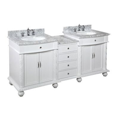 "Kitchen Bath Collection Buckingham 72"" Double Bathroom Vanity Set"