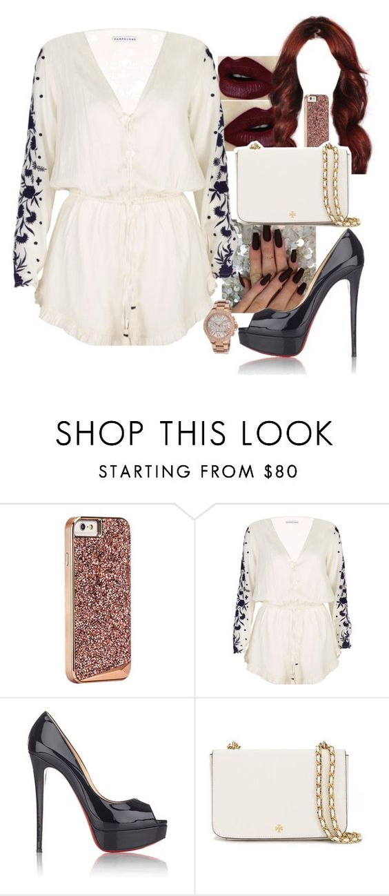 """Untitled #800"" by kellylaeticia ❤ liked on Polyvore featuring Pampelone, Christian Louboutin, Tory Burch and Michael Kors"