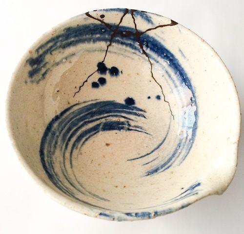 Kintsugi bowl: