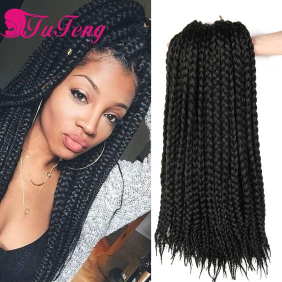 Box braids hair synthetic hair extensions kanekalon xpression braiding hair crochet braids box - Crochet braids avec xpression ...