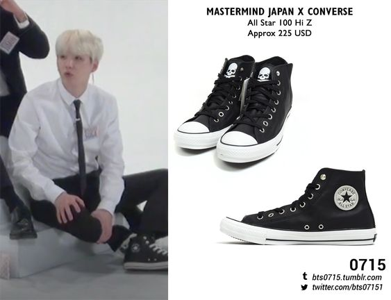 180206 | Yoongi : Run BTS! 2018 - EP.39 MASTERMIND JAPAN X CONVERSE - All star 100 hi z