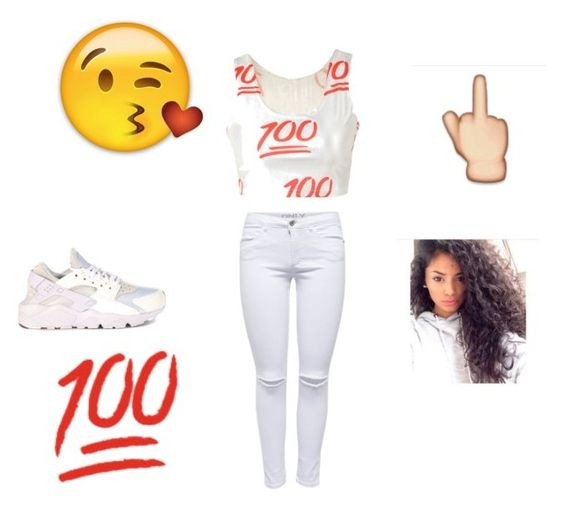 """I stay 100"" by teraneshawilliams ❤ liked on Polyvore featuring NIKE"